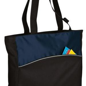 Two Tone Colorblock Tote Thumbnail