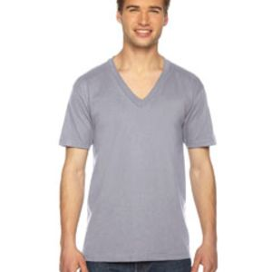 Unisex USA Made Fine Jersey Short-Sleeve V-Neck T-Shirt Thumbnail