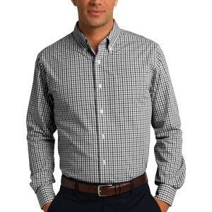 Long Sleeve Gingham Easy Care Shirt Thumbnail