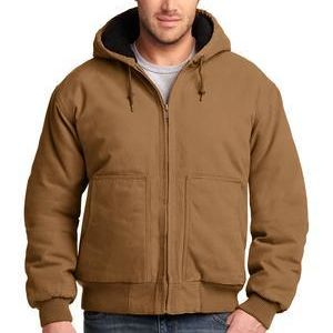 Washed Duck Cloth Insulated Hooded Work Jacket Thumbnail