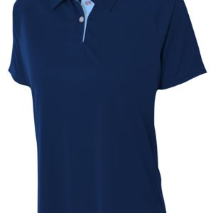 Ladies' Interlock Contrast Polo Thumbnail
