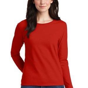 Ladies Heavy Cotton ™ 100% Cotton Long Sleeve T Shirt Thumbnail