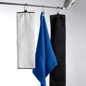 UltraClub Tri-Fold Velour Golf Towel with Carabiner Thumbnail
