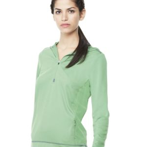 Women's Long Sleeve Half-Zip Hooded Pullover Thumbnail