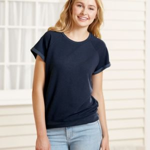 Women's Sweetheart French Terry Short Sleeve Pullover Thumbnail