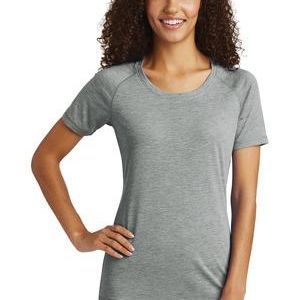 ® Ladies PosiCharge ® Tri Blend Wicking Scoop Neck Raglan Tee Thumbnail