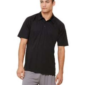 Unisex Performance Three-Button Raglan Polo Thumbnail