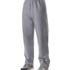 Adult Combed Ring-Spun Blended CVC Fleece Open Bottom Pant Thumbnail