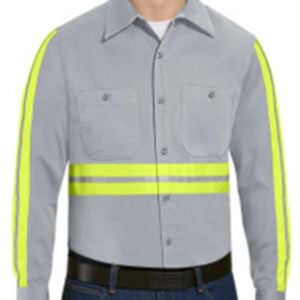 Enhanced Visibility Cotton Work Shirt Long Sizes Thumbnail